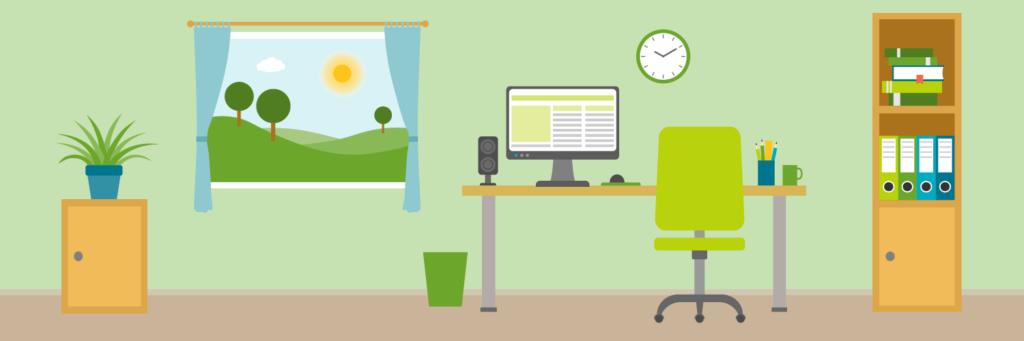 Bürozimmer grün