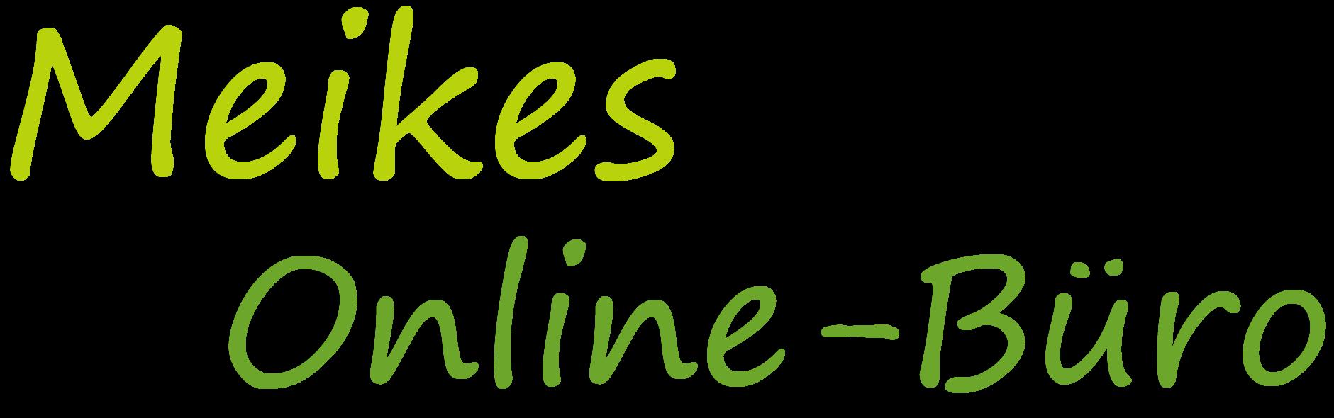 Schriftzug Meikes Online-Büro